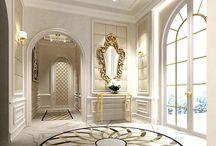 modern ház belső