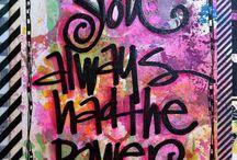 Artsy journals :) / Art journals , quotes , fun, dream