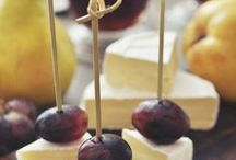 Snacks with grapes