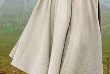 Пышные юбки со складками / Примеры того, что стоит пошить.