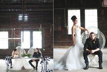 Rocker, goth, punk wedding