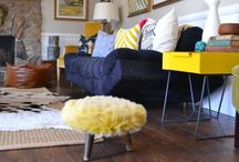 Modern Style / A pop of yellow doesn't have to be a scary thing. Who wouldn't want to fill their room with a little sunshine? #PutTogether / by Sauder Furniture
