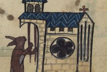 animals  in strange activities in illuminated margins of medieval manuscripts