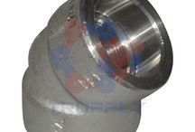 Socket Weld Fittings / This fitting design has a socket or recess for the pipe to slip into. A back weld is applied to hold the pipe in the fitting. Socket Weld fittings are formed by using either the drop forge or upset forging method. They are forged solid and require complete machining. http://www.trupply.com/collections/socket-weld-fittings