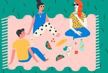 ILLUSTRATION / Colourful illustrations.