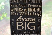 family sign / by Joel Melissa Jasso