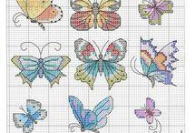 Vyšívání - motýli