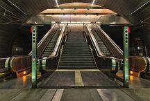 Underground Railstation Lohfeld Bochum Germany