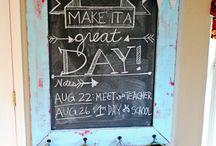 Crafty Ideas: Chalkboards / Craft ideas for chalk boards, DIY, decor, tips, tricks, tutorials, & more!