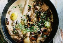 Mushroom Casseroles, stews and curries