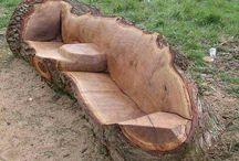 Мебель из бревен