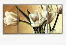 çiçek tabloları yağlı boya