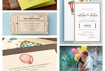 Carnival Themed Inspiration Board from eInvite / Step right up and get inspired with some fun carnival themed party ideas and invitations.