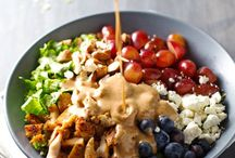 Rainbow Chicken Salad Almond Dressing