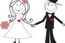 Desenhos Família / Desenhos e ilustrações coloridos e para colorir de famílias, noivos, irmãos, avós.