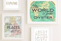 Travel & Explorer Nursery Inspiration / Take your little ones nursery all around the world with a travel inspired nursery that can incorporate maps, vintage suitcases, treasure maps and so much more! The ideas are limitless!