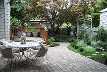 Hageinspirert / Steinterrasse med veranda