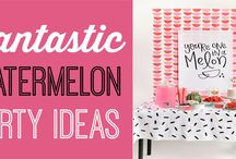 Watermelon Party / Here's everything you need to throw an amazing Watermelon birthday party or Watermelon party this summer. You'll find great DIY party projects, party decorations, food ideas, party games, and so much more.