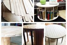 Livingroom / Bord, sjenk, kommode, div interiør