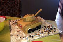 Army Tank Fondant Cake / Fondant Cake