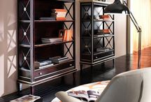 """""""Culture commands a noble venue"""" / This is a prestigious bookcase with a drawer and a roman cross pattern, a distinctive feature of the elegant Tosato design."""
