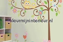 Muren decoreren met stickers / Leuke stickers voor op muren, kasten en deuren. Veel keuze bij Kleurmijninterieur.nl