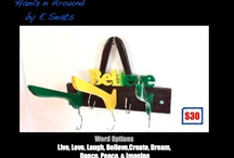 Hang'n Around / Personalized wall hangers for everything from towels, clothes to keys. Made for you, with your input.