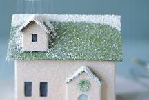 Christmas house scenes