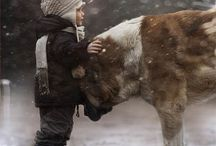 Kids and Animals / Nothing more precious than kids and animals!