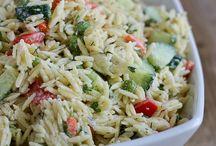 Food : Vegetarian pasta / bulgur / quinoa / rice / couscous salads / by Lisa