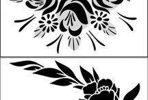 Pochoirs de fleursg