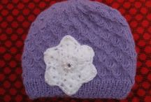 Baby Knitted Hats / Handmade knitted hats for newborn and children created with soft and fluffy materials such as mohair