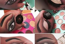 make-up op hand