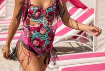 Agua Bendita / The 2016 Agua Bendita Swimwear Collection is truly a work of art, featuring hand made designer bikinis from this luxury brand that are beyond compare. Made with beaded colorful detail they are unique in not only their construction but their feel and texture as well.