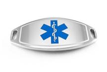 ID Plates / Tags / Beaded Bracelets / Medical ID plates for beaded medical bracelets