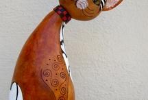 calabazos decorados