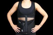 Black Zipper Tank Concealed Carry Corset / The Black Zipper Tank is part of the Dene Adams® Essentials Collection of concealed carry corsets. www.deneadams.com