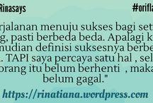 RIna Says / Quote diri sendiri :D