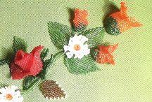 fiori con perline