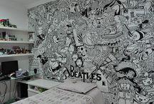 Illustration in wall