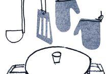 Foodie drawing fings