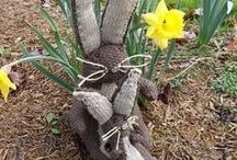 knitted  hare
