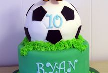 Soccer cakes.