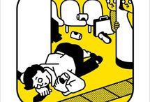 Posters educativos Metrô de Tókyo