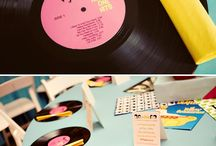 record party and table decor