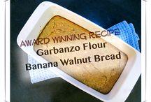 garbanzo flour banana walnut bread