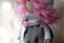Мои текстильные куклы / Текстильные куколки ручной работы.