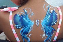 vlinder bodyart