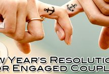 5 New Year's Resolutions for Engaged Couples / As the New Year gets off to a start, make sure you're considering some of these top New Year's resolutions for engaged couples.  http://www.kimberleyandkev.com/5-new-years-resolutions-engaged-couples/