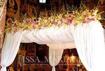 Decoratiuni cununie religioasa Raul Rusescu / Cununie religioasa Raul Rusescu decoratiuni florale ghirlande din orhidee IssaMariage IssaEvents Valcea Slatina Bucuresti
